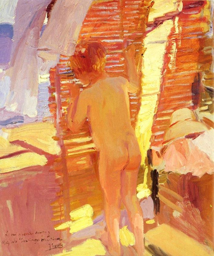 Joaquín Sorolla, Curious Child, 1916