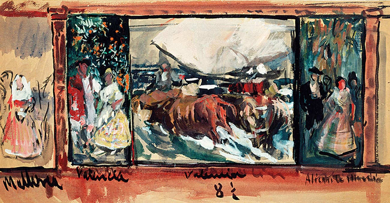 Joaquín Sorolla, Sketch for the Decoration of the Hispanic Society © Museo Sorolla, Madrid via National Gallery UK