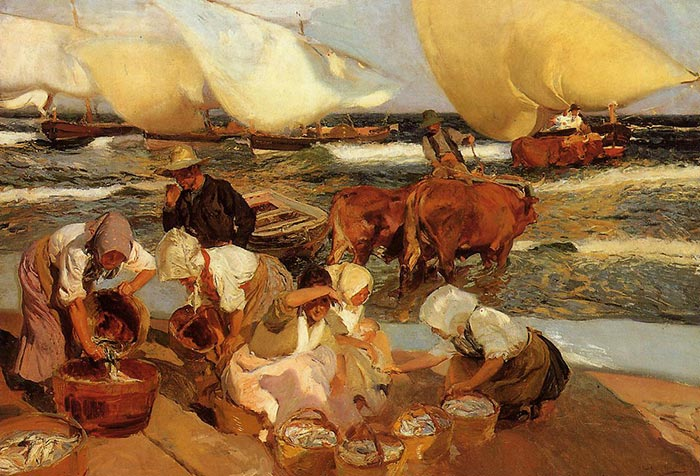 Joaquín Sorolla, The Beach in Valencia, 1908