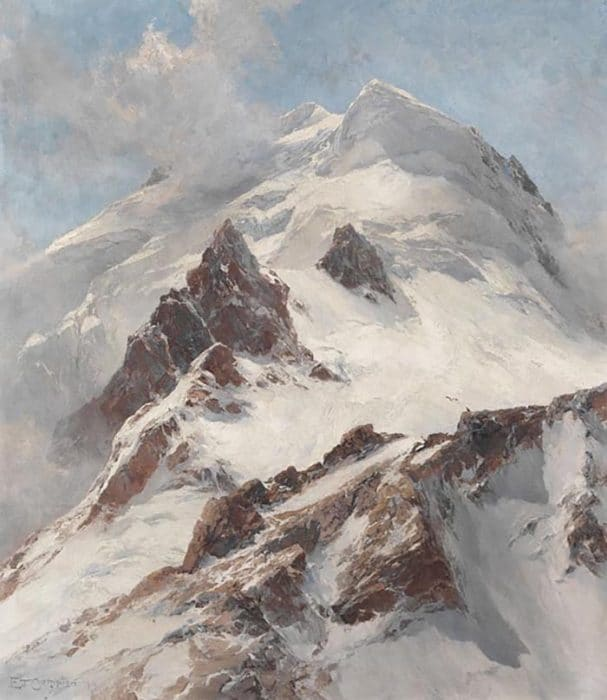Edward Theodore Compton, Piz Morteratsch, View From Fuorcla Boval on the Northern Flank, 1914