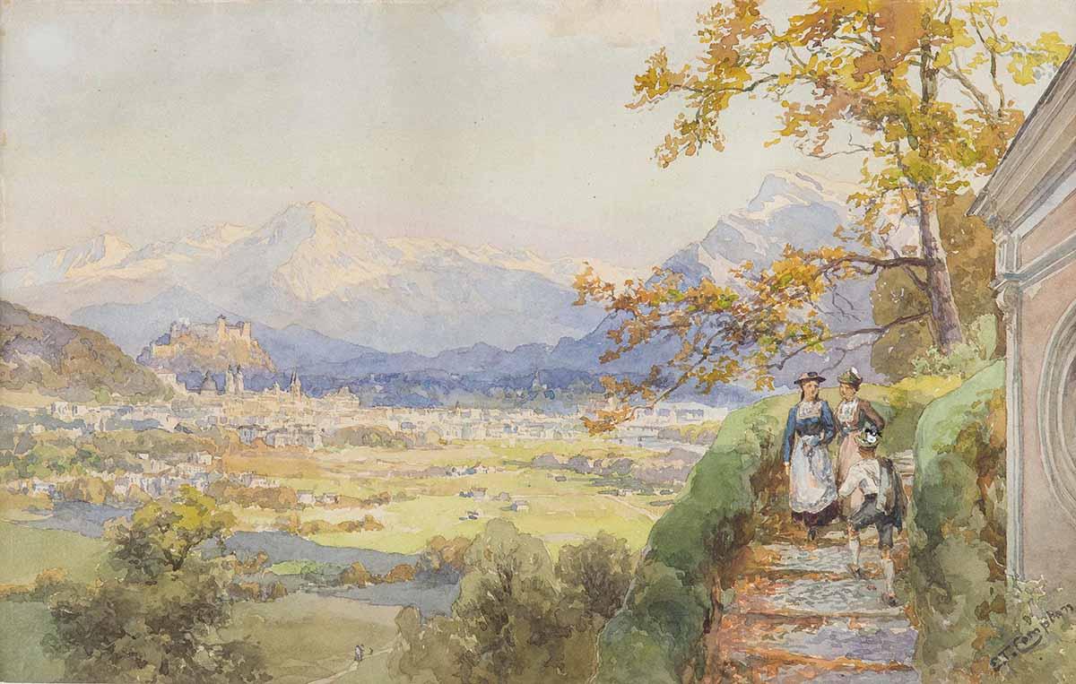 Edward Theodore Compton, Salzburg by Maria Plain