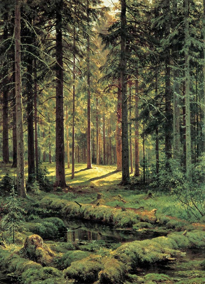 Ivan Shishkin, A Coniferous Forest. Sunny Day, 1895