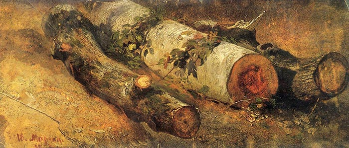Ivan Shishkin, Felled Birch, 1864