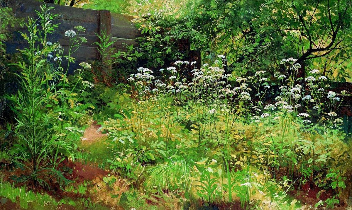 Ivan Shishkin, Goutweed Grass, 1885