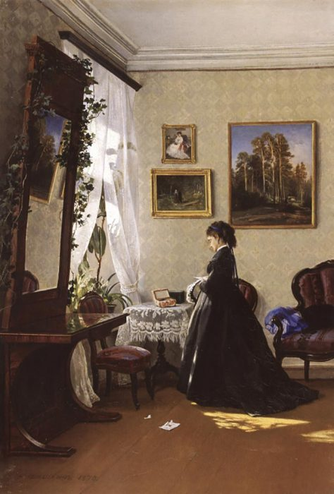 Ivan Shishkin, In Front of the Mirror. Reading the Letter, 1870