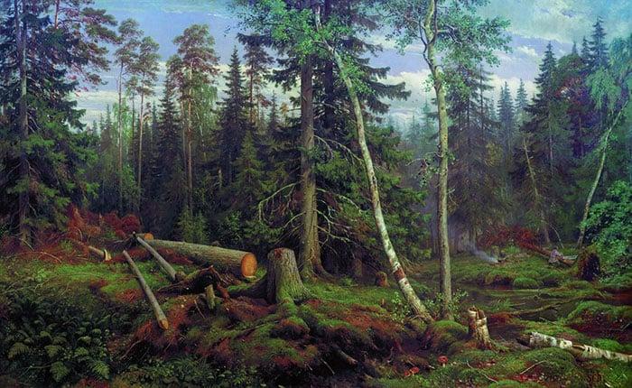 Ivan Shishkin, Logging, 1867