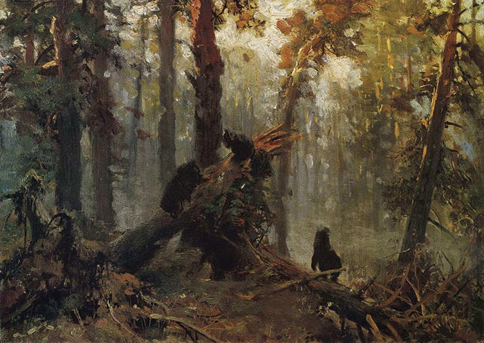 Ivan Shishkin, Morning in a Pine Forest. Sketch, 1889