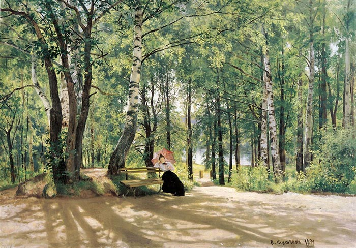 Ivan Shishkin, Near the Cottages, 1894