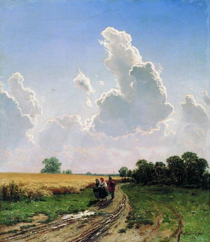 Ivan Shishkin, Noon, The Surroundings of Moscow, Brattsevo, 1866