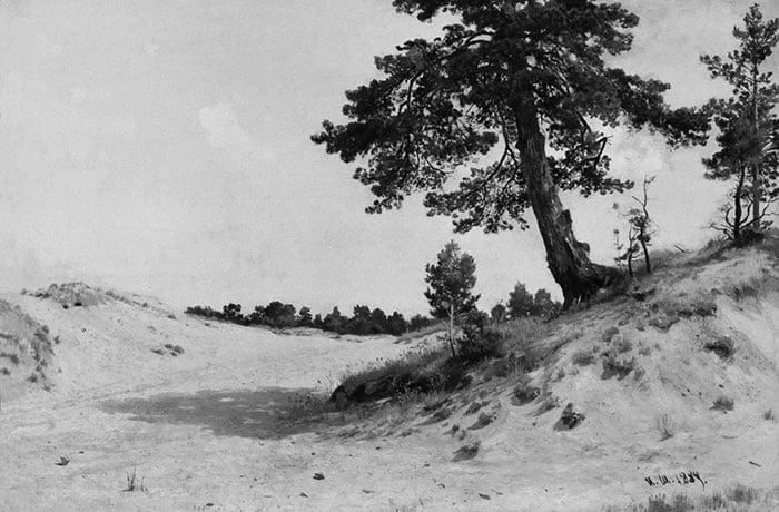 Ivan Shishkin, Pine on the Sand, 1884 (Grayscale)