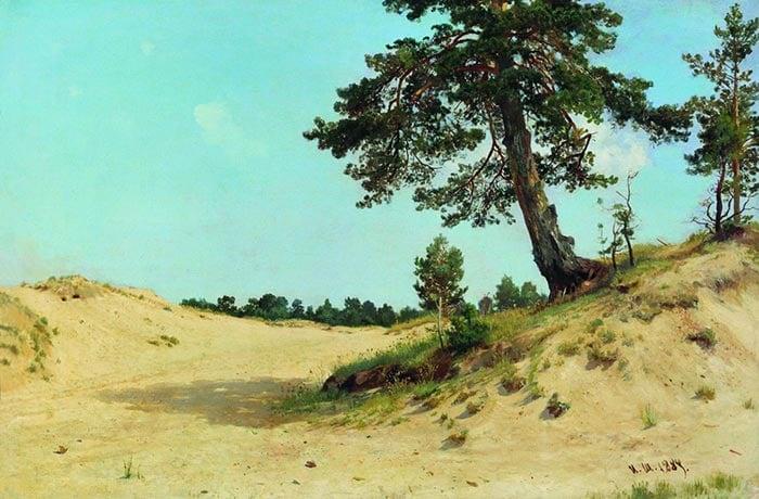 Ivan Shishkin, Pine on the Sand, 1884
