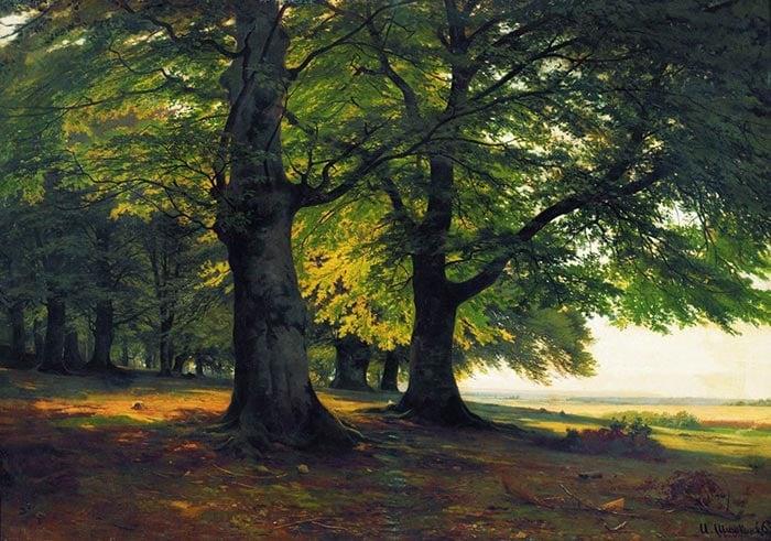 Ivan Shishkin, Teutoburg Forest, 1865