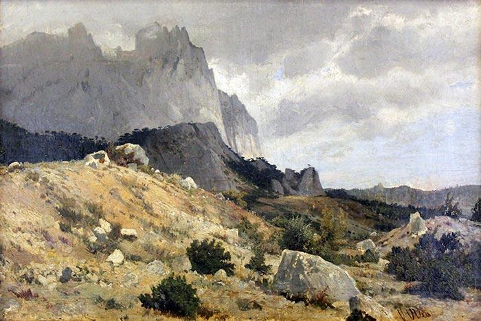 Ivan Shishkin, The Rocky Landscape
