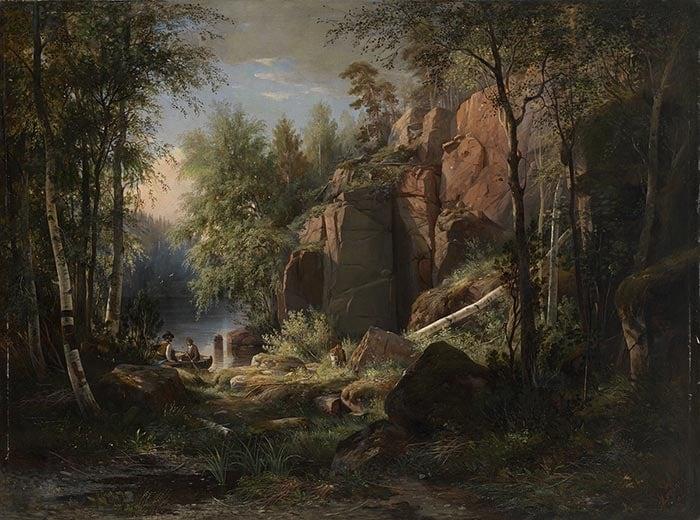 Ivan Shishkin, View of Valaam Island, 1860