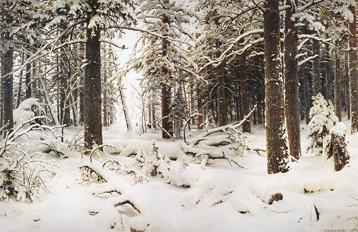 Ivan Shishkin, Winter, 1890