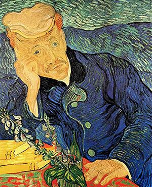 Expressionism - Vincent van Gogh, Portrait of Dr. Gachet, 1890