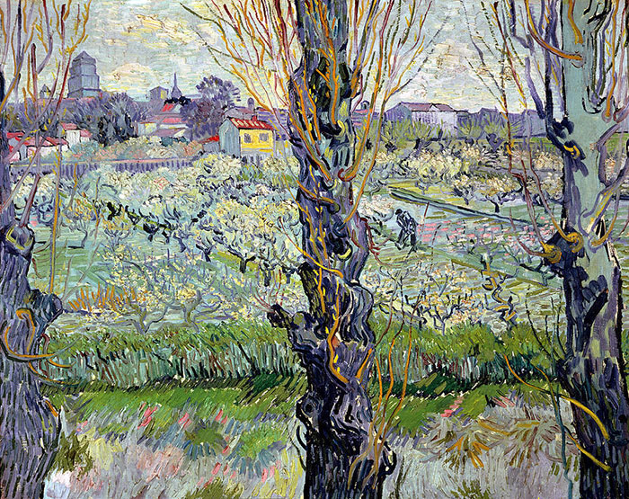 Vincent van Gogh, Orchard In Bloom With Poplars, 1889