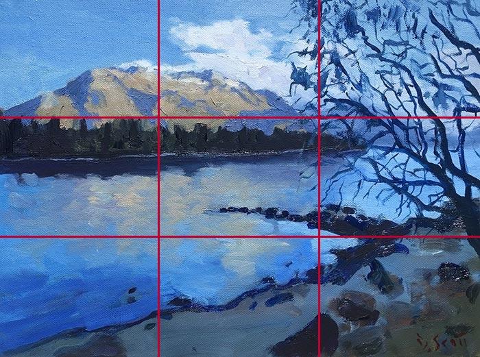 Gridlines - Dan Scott, NZ Reflection (Study), 2017