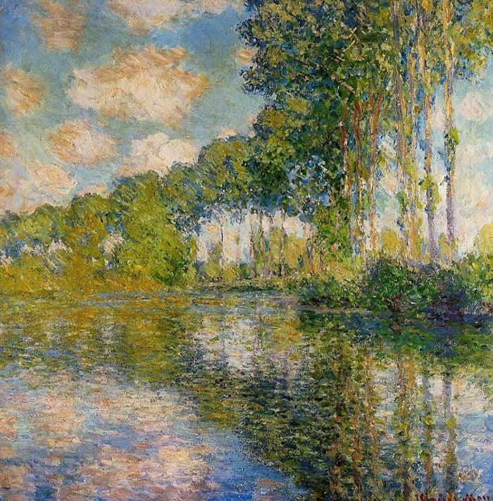 Claude Monet, Poplars on Epte, 1889