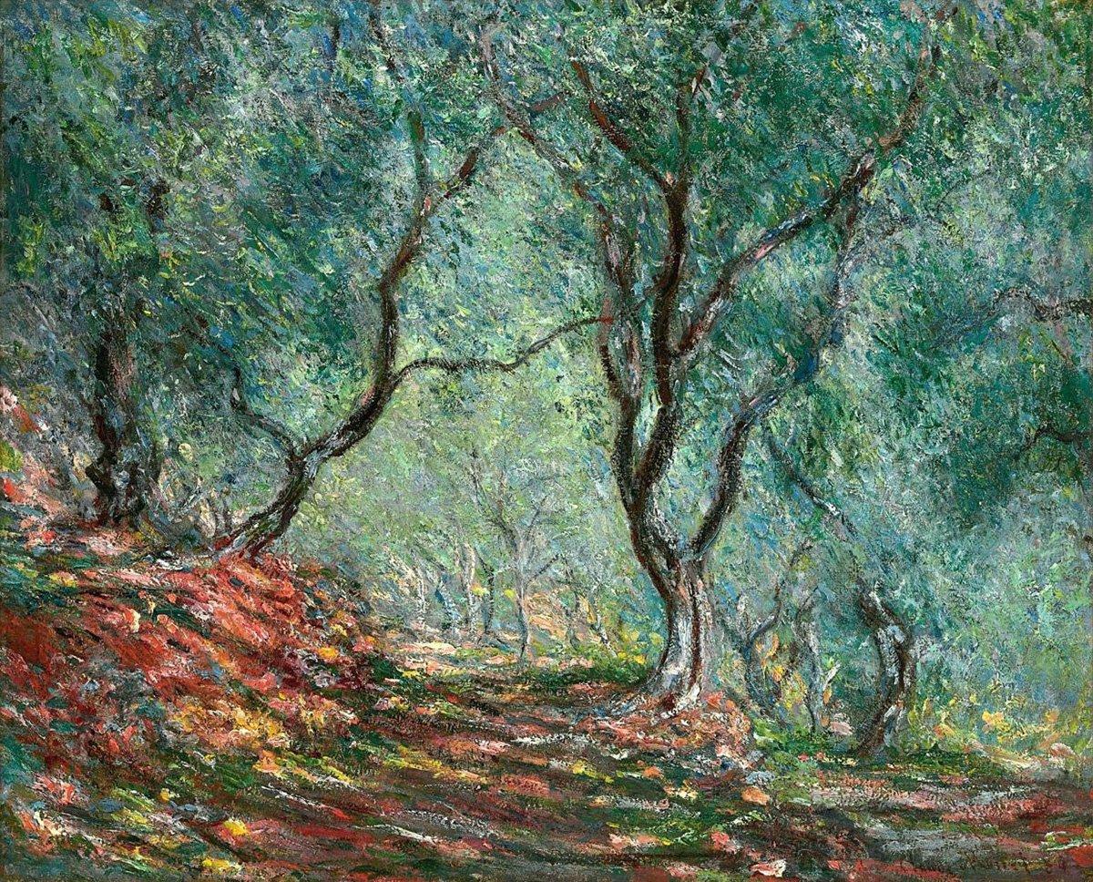Claude Monet, The Olive Grove in the Moreno Garden, 1884