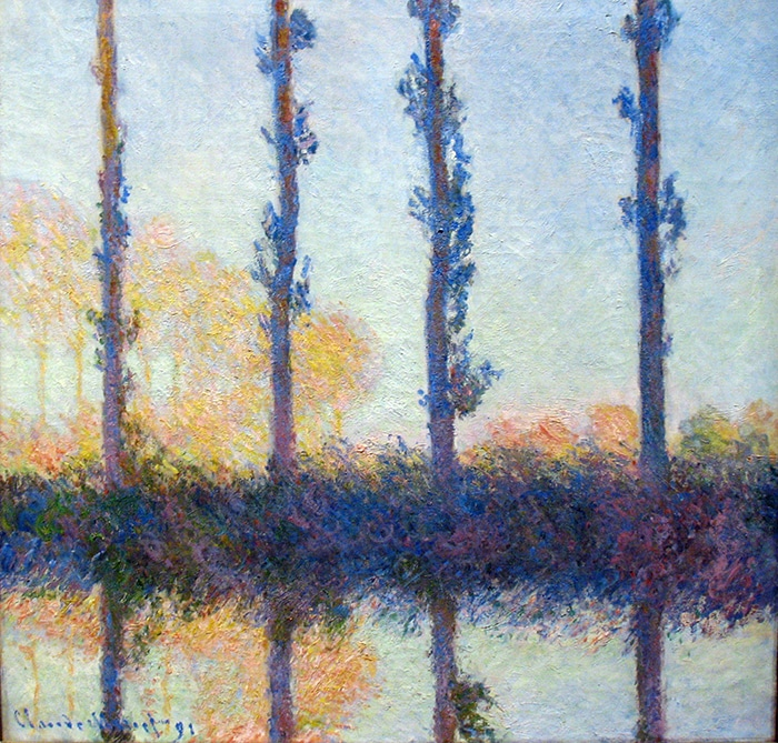 Claude Monet, the Four Trees, (Four Poplars on the Banks of the Epte River near Giverny), 1891