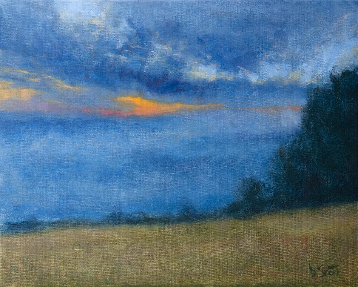 Dan Scott, Mt Tamborine Sunset, 2020, 1200W