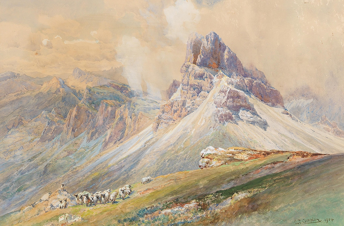 Edward Theodor Compton, From the Dolomites, 1904