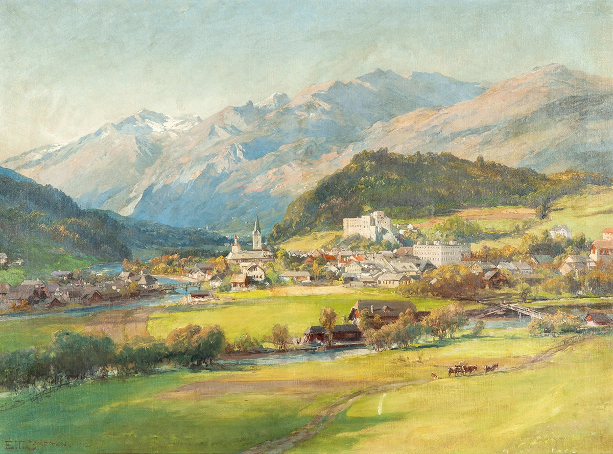 Edward Theodor Compton, View of Gmünd in Carinthia