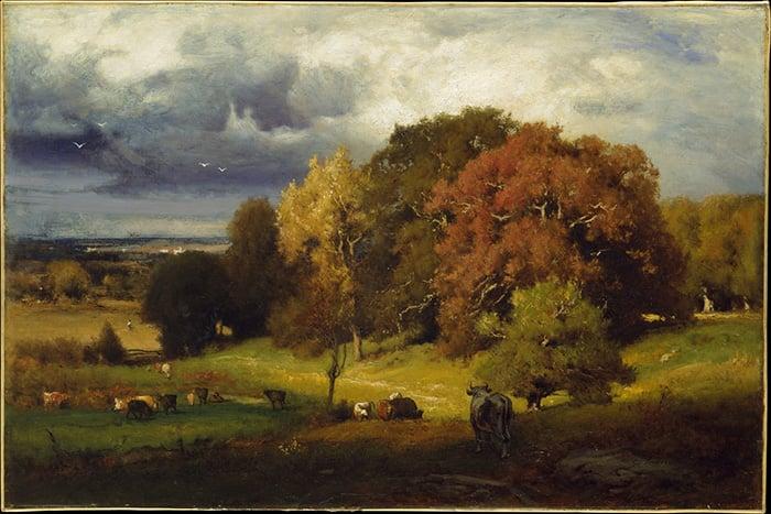George Inness, Autumn Oaks, c.1875