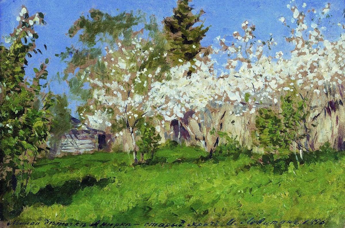 Isaac Levitan, Blooming Apple Trees, 1896