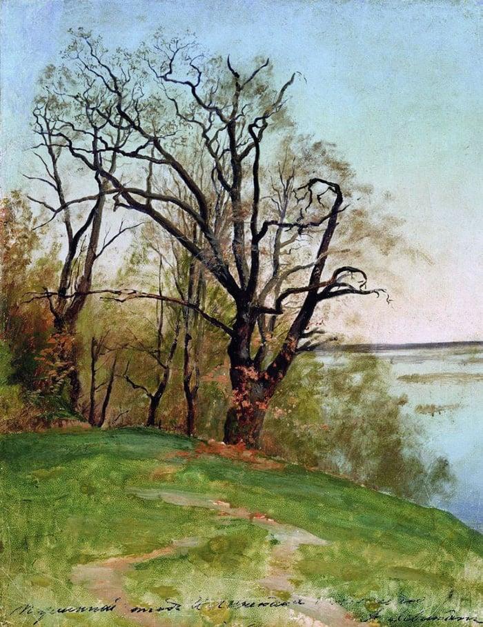 Isaac Levitan, Oak on the River Bank, 1887