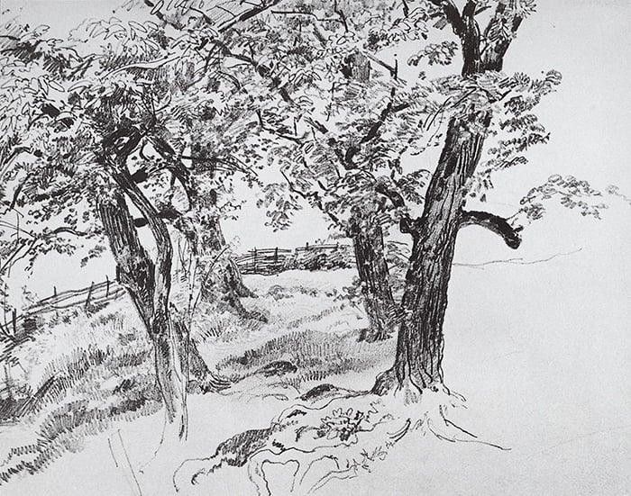 Ivan Shishkin, Trees, c.1870