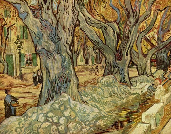 Vincent van Gogh, The Large Plane Trees (Road Menders at Saint-Rémy), 1889