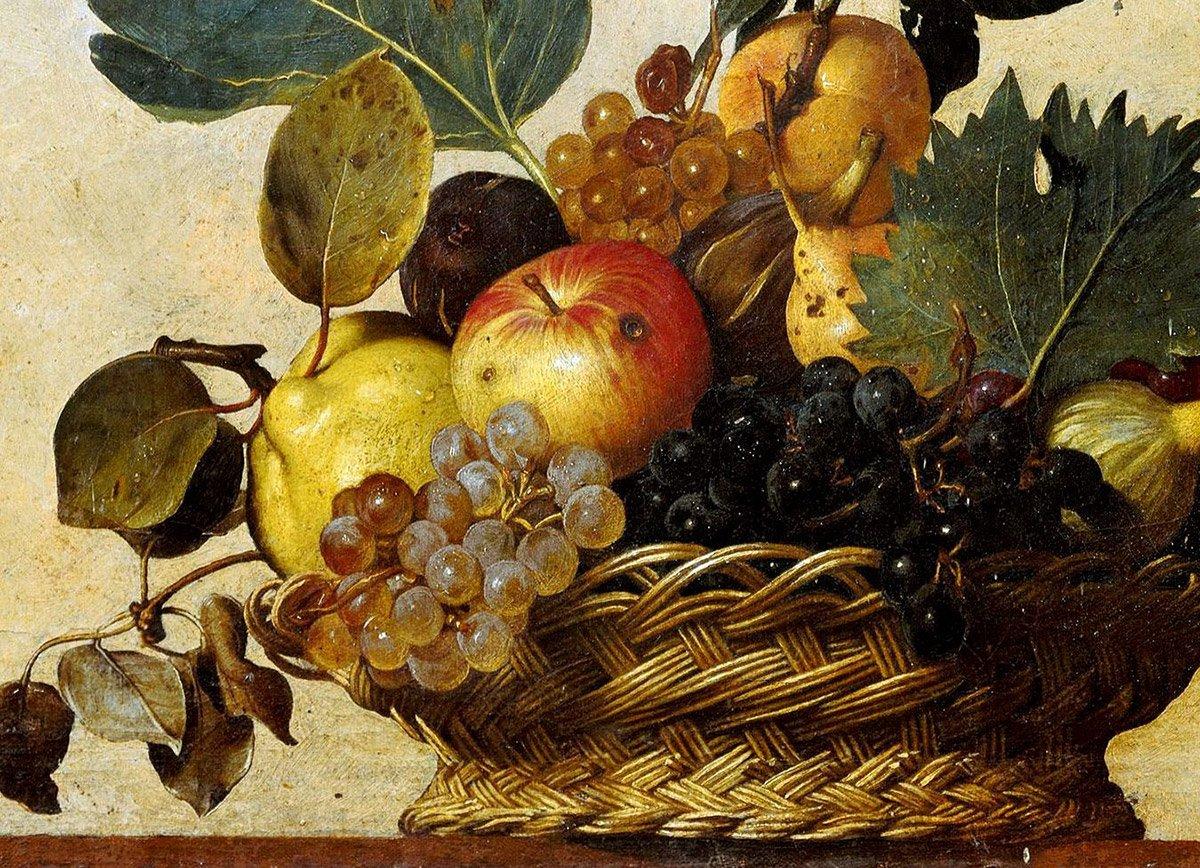 Caravaggio, Basket of Fruit, c.1599 (Detail 1)