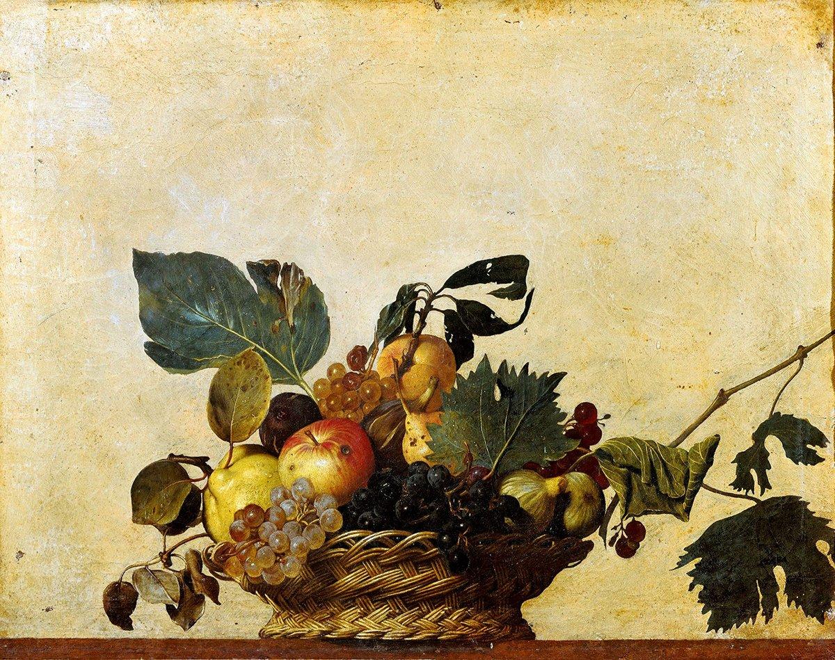 Caravaggio, Basket of Fruit, c.1596-1601