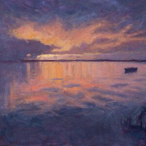 Dan Scott, Kayaking at Sunset, Caloundra, 2020 - 700W