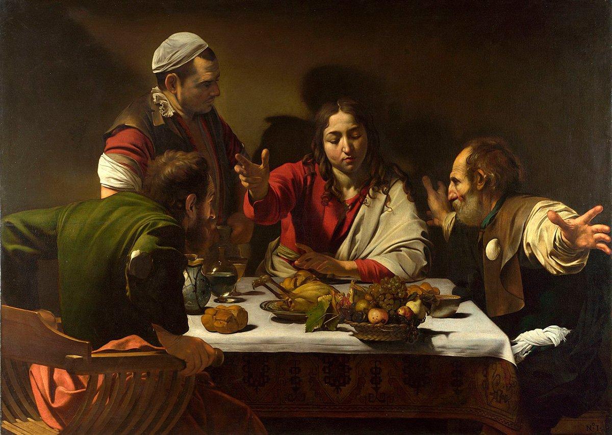 Michelangelo Caravaggio, The Supper at Emmaus, 1601