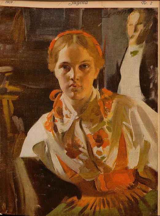 Anders Zorn, Jugend, 1908
