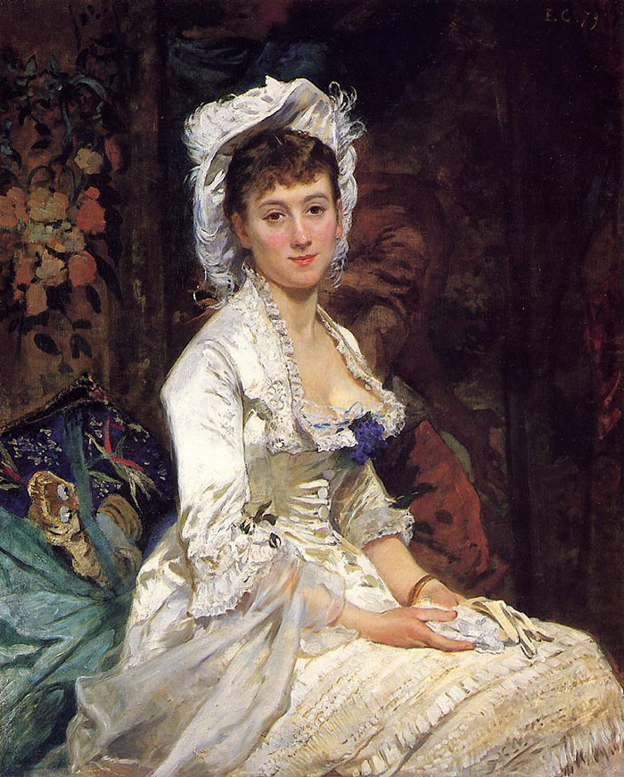 Eva Gonzalès, Portrait of a Woman in White, 1879
