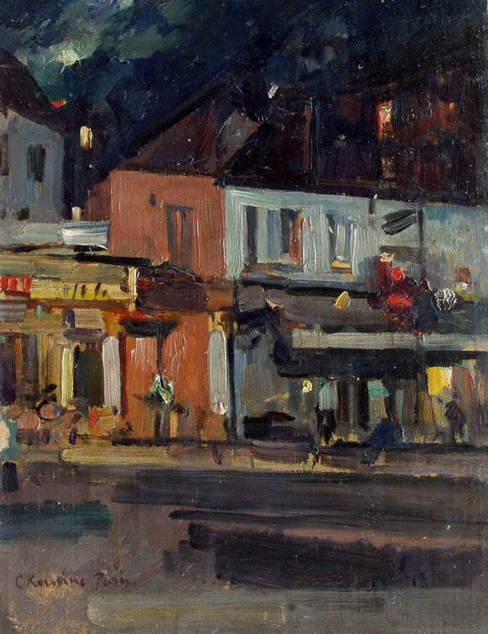 Konstantin Korovin, Moonlit Night, Paris, 1929