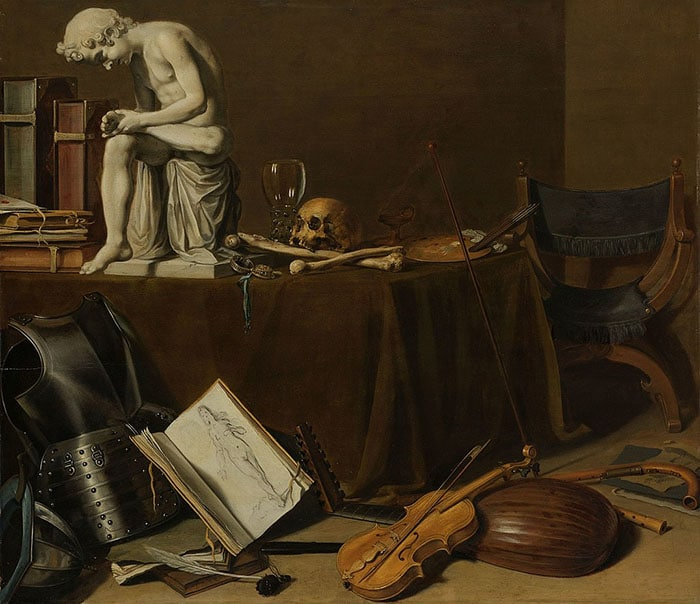 Pieter Claesz, Vanitas Still Life With Spinario, 1628