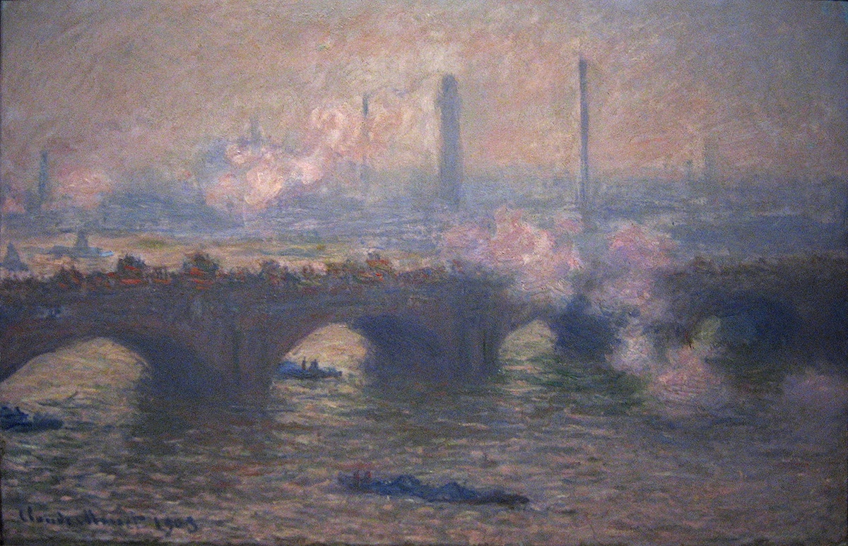 Claude Monet, Waterloo Bridge, Gray Day, 1903