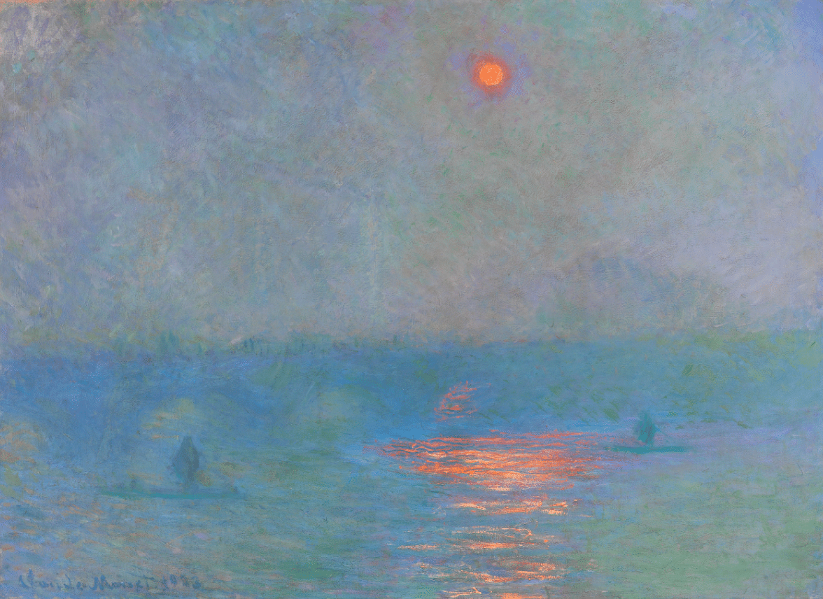Claude Monet, Waterloo Bridge, Sun Through Fog, 1903