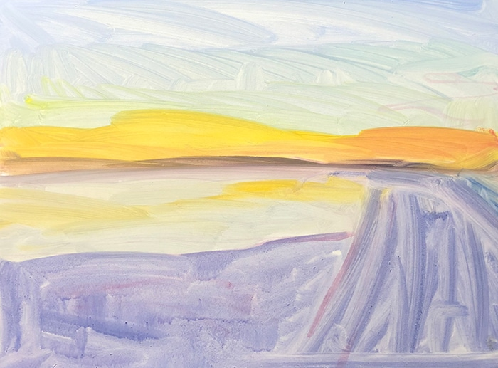 Dan Scott, Fraser Island, High Key, 2020 (Progress 1)