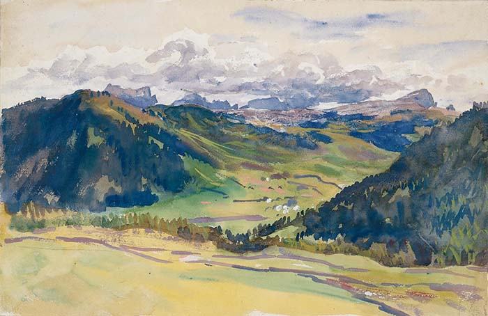 John Singer Sargent, The View of the Valley. the Dolomites, 1914