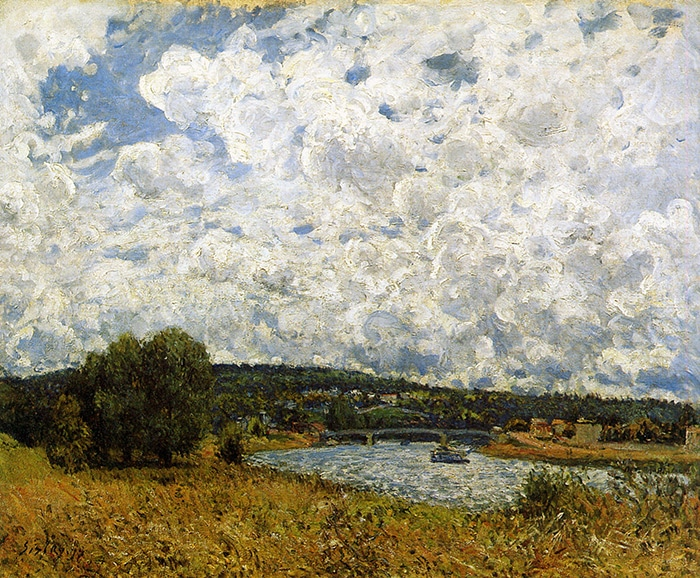 Alfred Sisley, The Seine at Suresnes, 1877