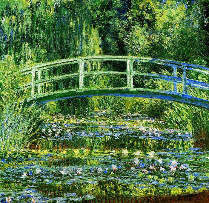 Claude Monet, Japanese Bridge (The Water Lilly Pond), 1899