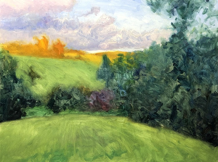 Dan Scott, Maleny, Late Afternoon, 2020 WIP (3)