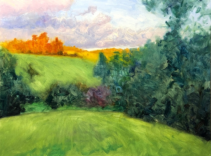 Dan Scott, Maleny, Late Afternoon, 2020 WIP (4)