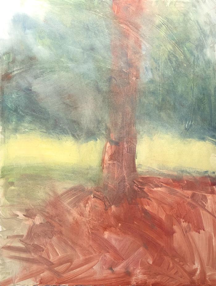 Dan Scott, Tree, Dappled Light 2020, WIP (1)